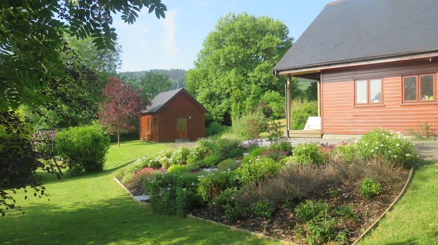 Modernes, separates Haus im Garten
