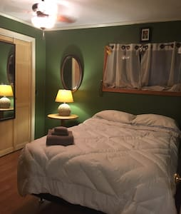 Warm Country Charm with a double bed