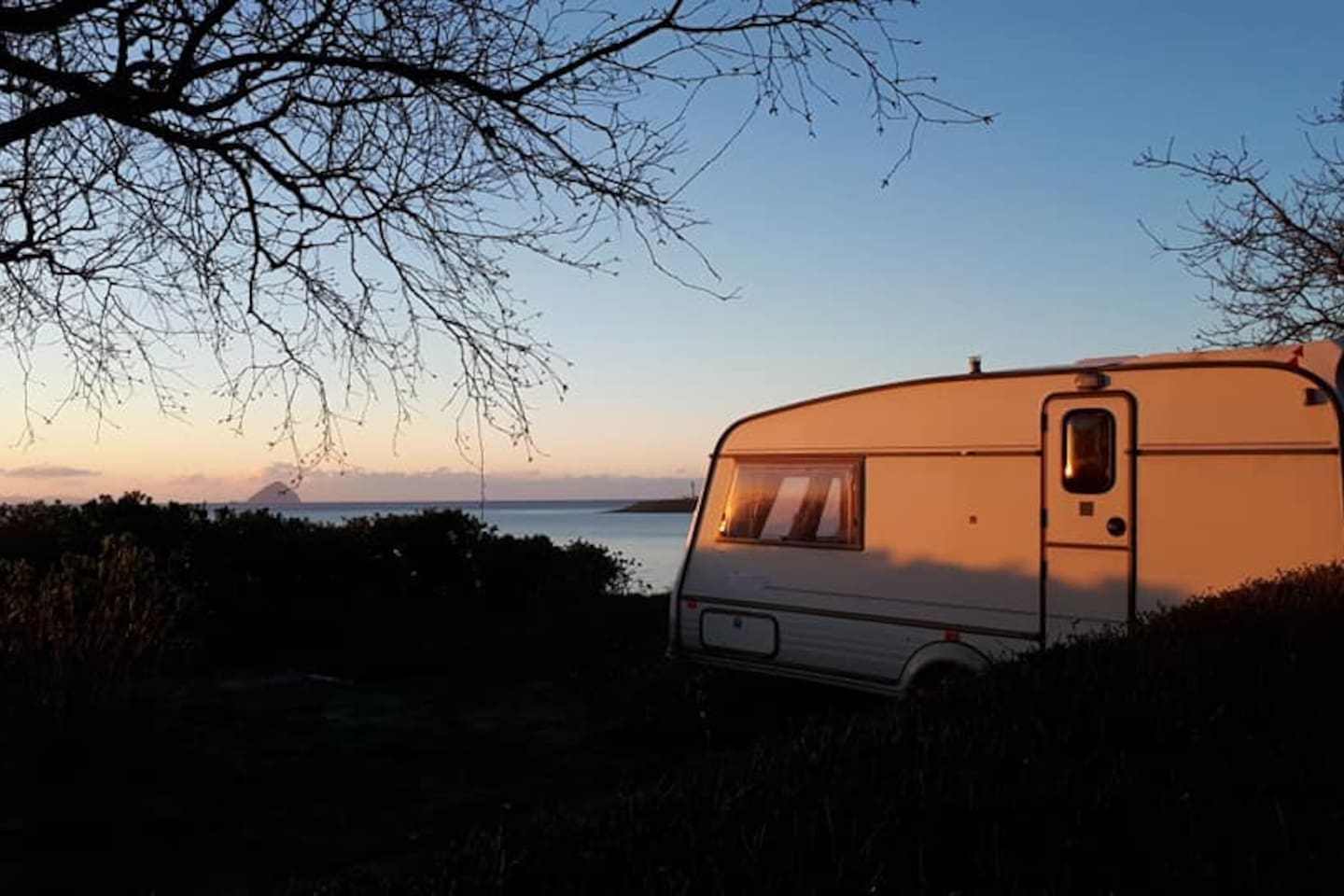 Enjoy  watching sunrise and sunset over the sea.  Otters and seals can be spotted from the caravan.