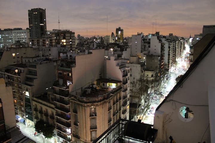 Studio in Recoleta. Perfect location. Great view