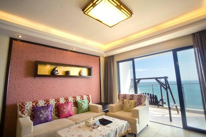 三亚湾路兰海花园三期A栋180度海景2房2厅 阳台无遮挡看海 - Sanya - Apartmen