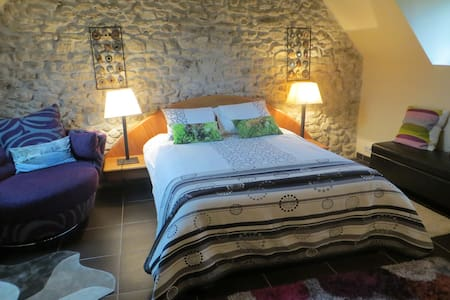 Romantic  suite in a 16th century Watermill. - Gilles - House - 1
