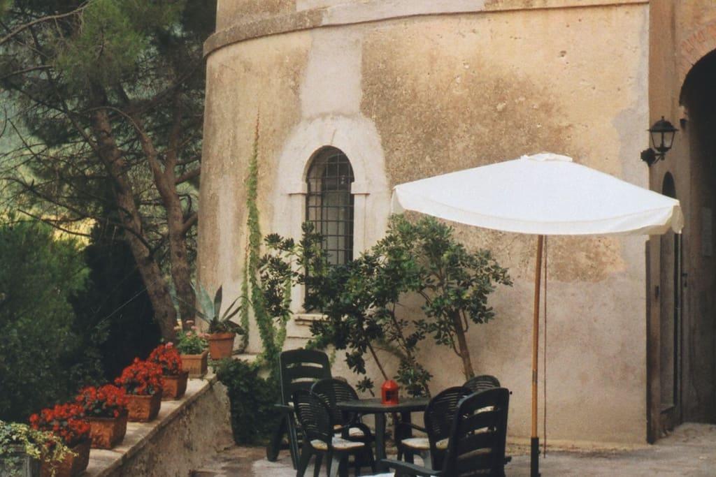 Tower courtyard