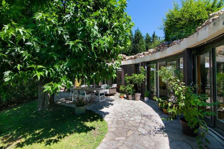 Maison organique avec piscine au coeur du village