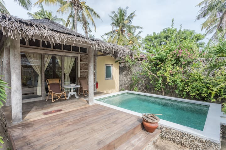 PROMO Wooden style villa 1BD in paradise island