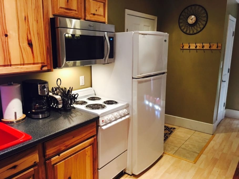 Here is our full sized kitchen.
