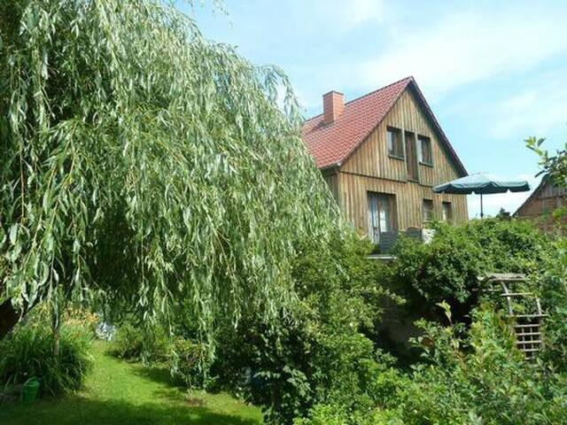 Apartment with garden, friendly, elderly people, pets welcome, no stairs