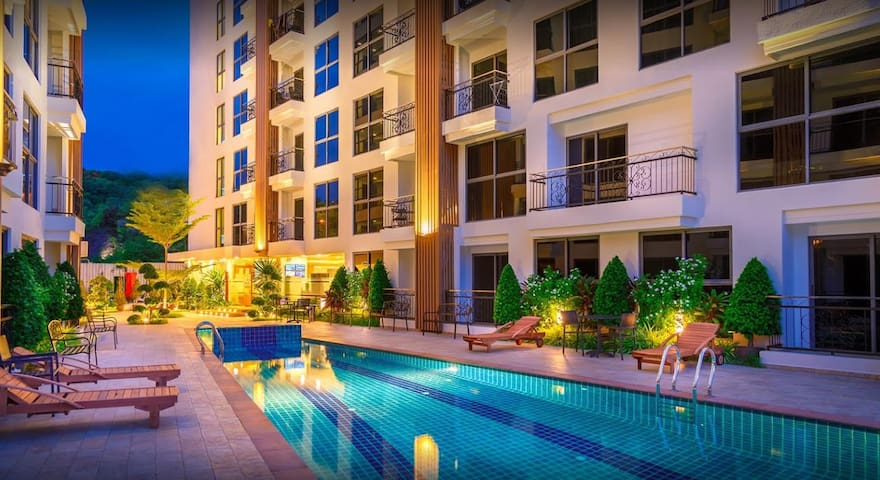 City Garden Pratumnak  Room A103 - Pattaya - Apartmen