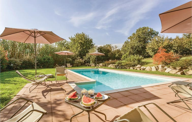 Awesome apartment in Capranica VT with 1 Bedrooms, Outdoor swimming pool and Outdoor swimming pool