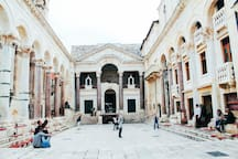 CITY OF SPLIT - DIOCLETIAN PALACE -   PERISTIL SQUARE (UNESCO HERITAGE)