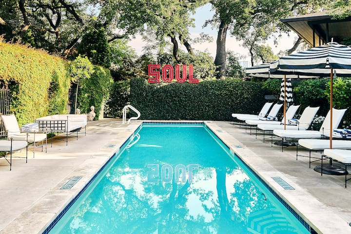 Secluded Pool Bungalow on South Congress