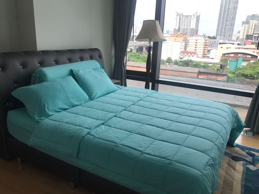 Luxurious big bed and new