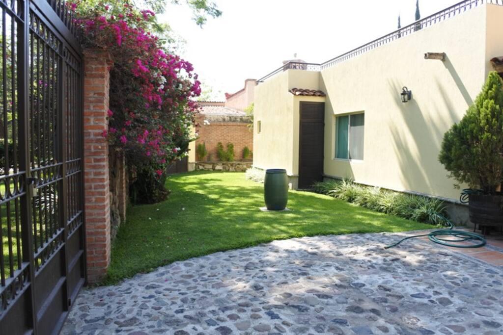 front yard / garage