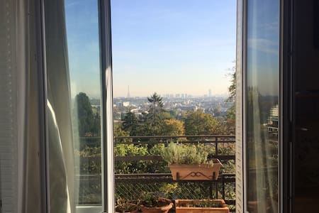 Large room with exceptional view on Paris - Saint-Cloud - Apartament