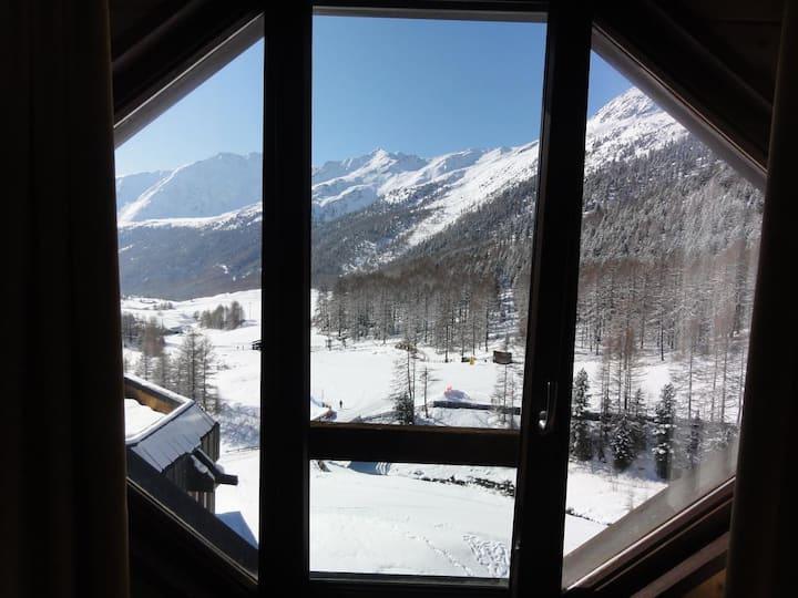 Vista mozzafiato sulla Val Senales