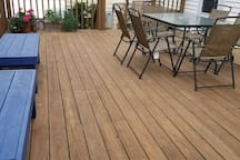 You'll have use of the back deck!