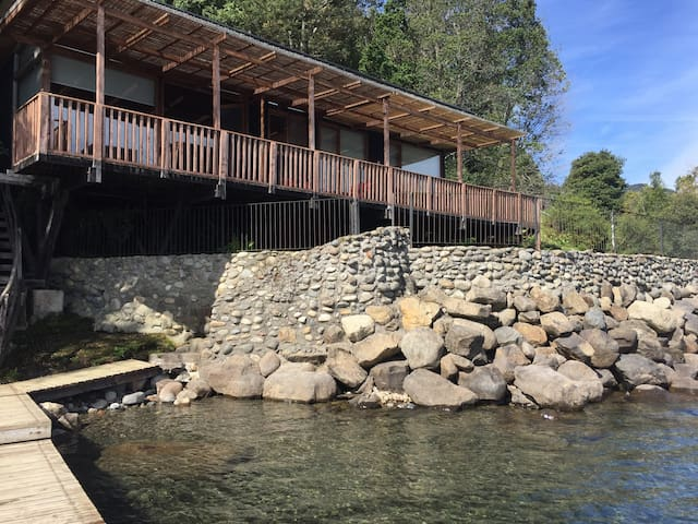 Cabaña lago Colico, Cunco Araucania, Chile