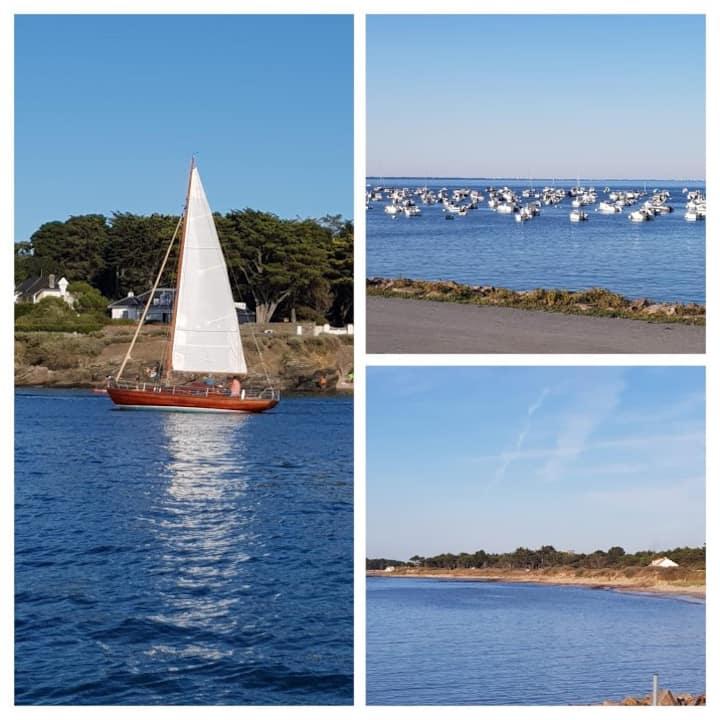 Maison familiale, la plage à pied et vue mer...
