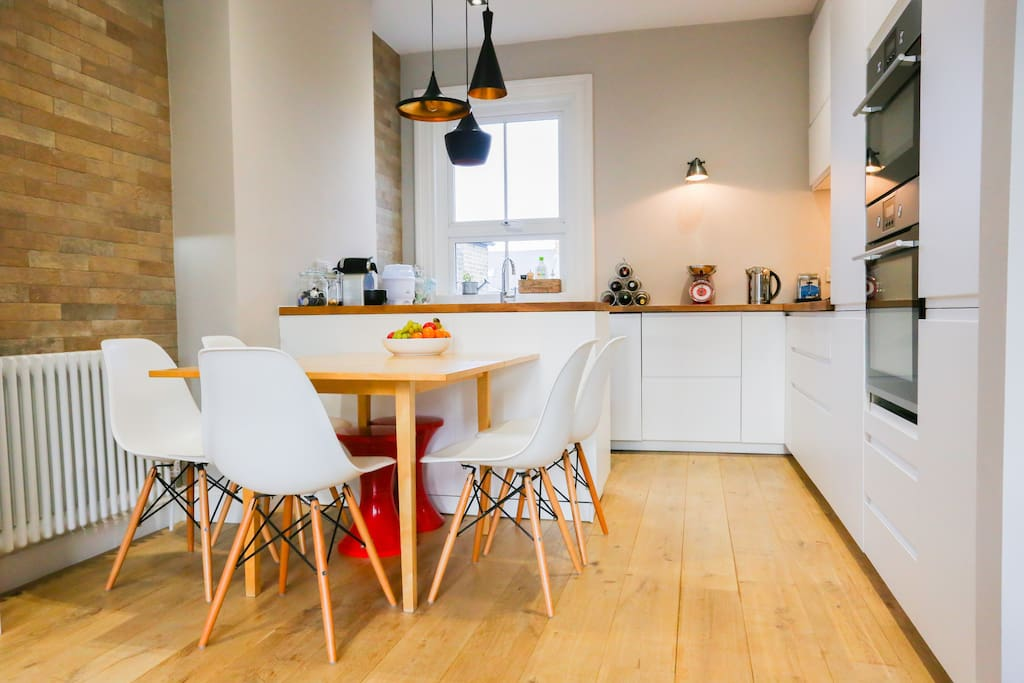 .. the living space leads onto the modern, fresh and bright kitchen/dining area