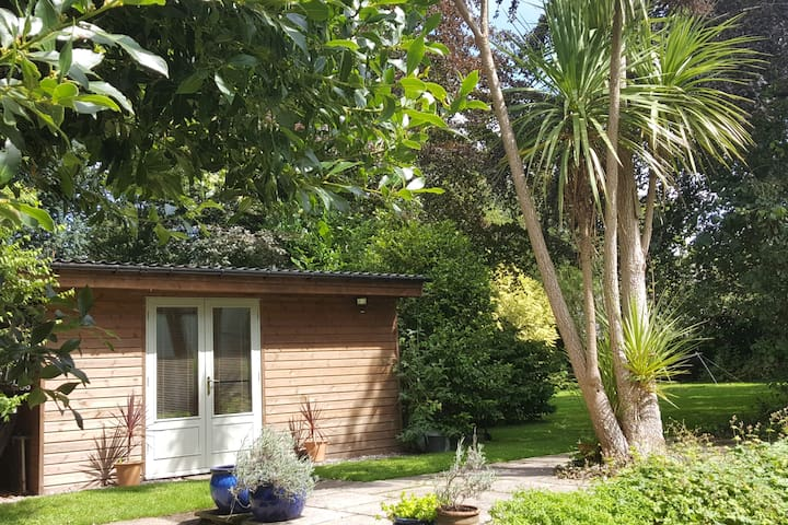 ''Shed with a Bed'' (our beautiful garden cabin)