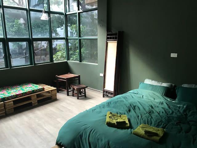 bedroom 1 - first floor with lock