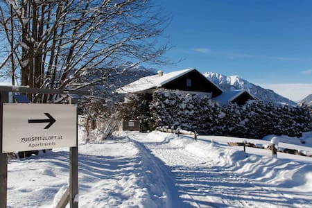 Zugspitzloft- 90 qm LOFT mit Bergblick am Wildbach - Ehrwald