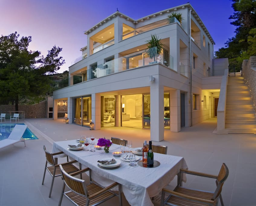 Luxury Villa My Dream with pool by the sea at the beach on Brac- Brac - Sumartin