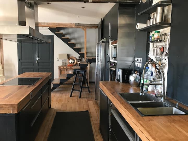 Loft en duplex 135m2  terrasse/Jardin Avon- Fbleau
