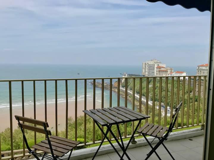 vue pleine mer et montagnes, balcon, parking, wifi