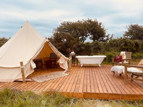 5* Bell Tent in Cornwall Dog Friendly