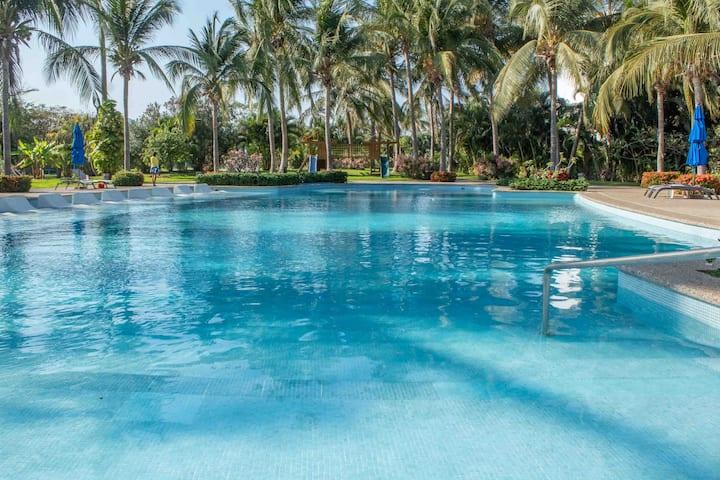 Depa de Lujo Mayan Lakes Diamante c/ Club de Playa