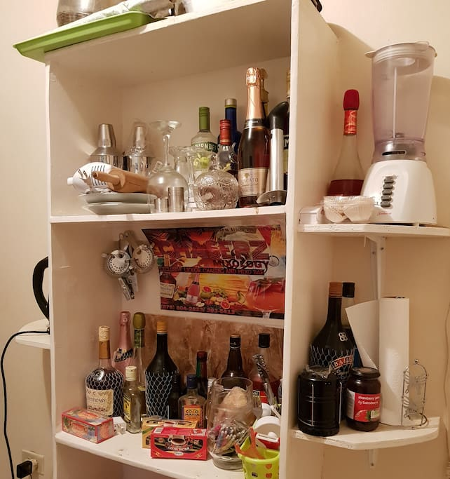 A Medium liquor Cabinet is available.
