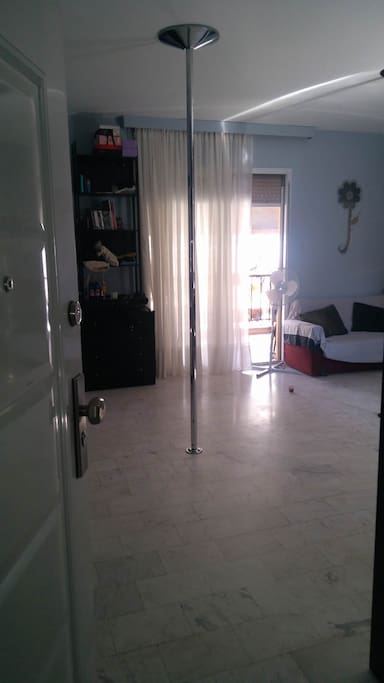 View from the entrance to the apartment
