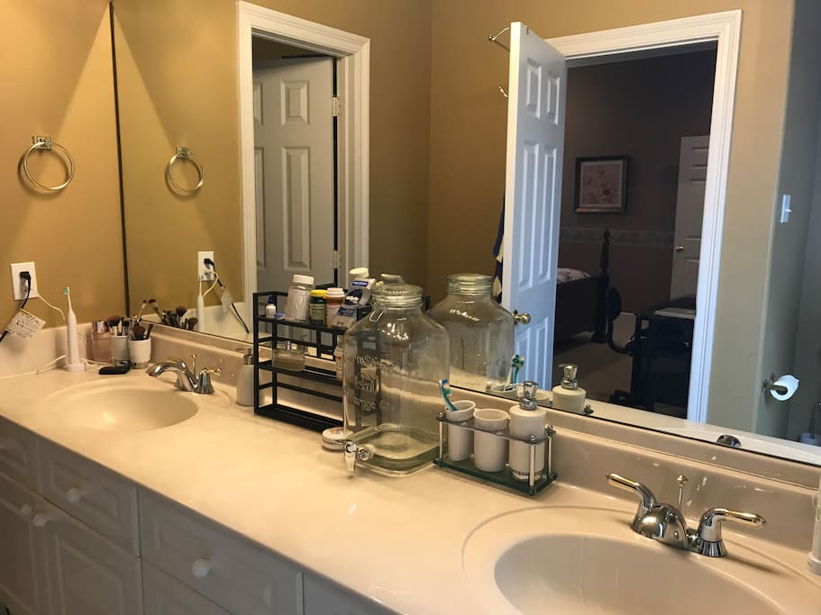 Two sinks and large counter