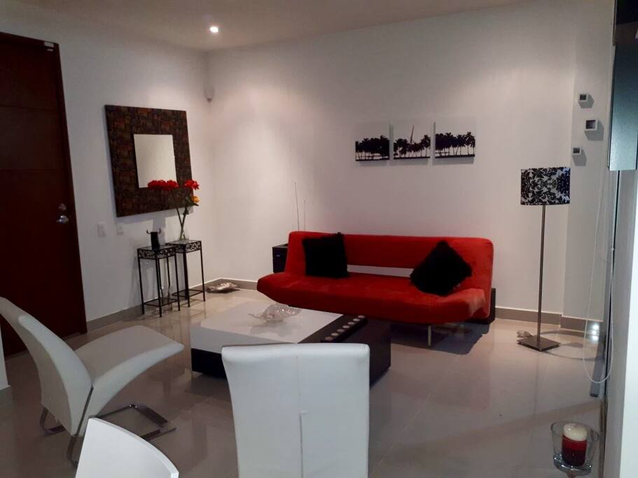 Sala - área social con sofá cama doble
