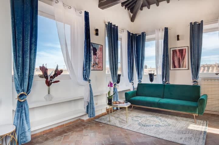 LUX CHARMING PENTHOUSE - PIAZZA NAVONA - NEW!!!