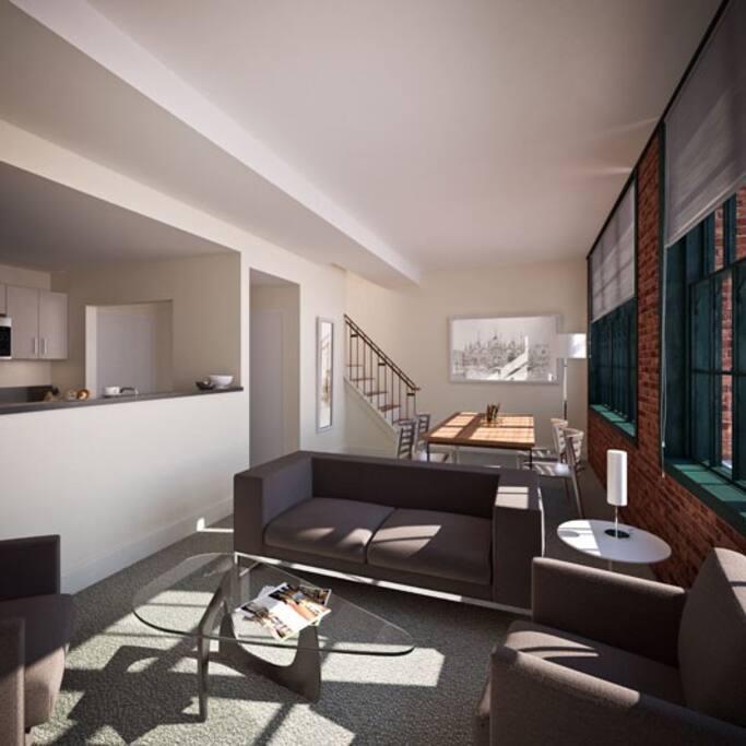 Open concept living