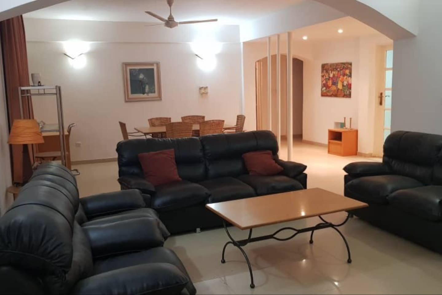 Wonderfully spacious and full furnished, modern-design living room.