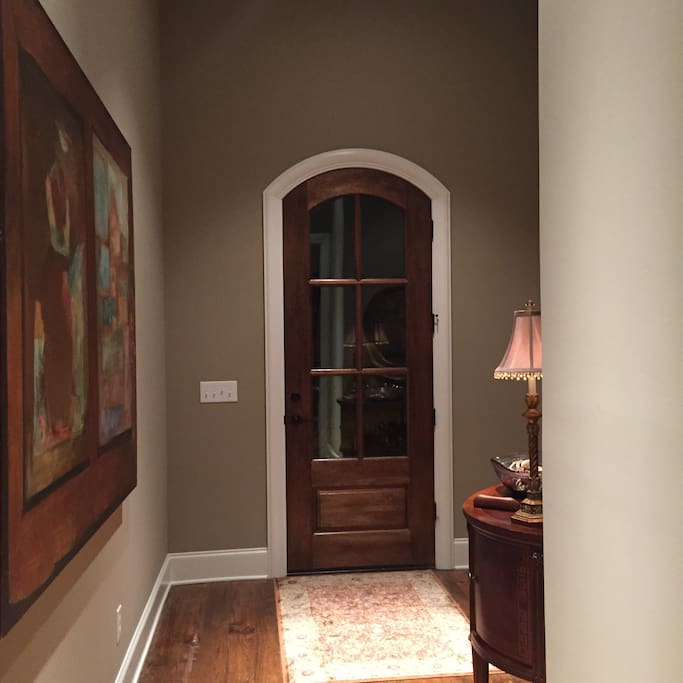 Front entrance and foyer.