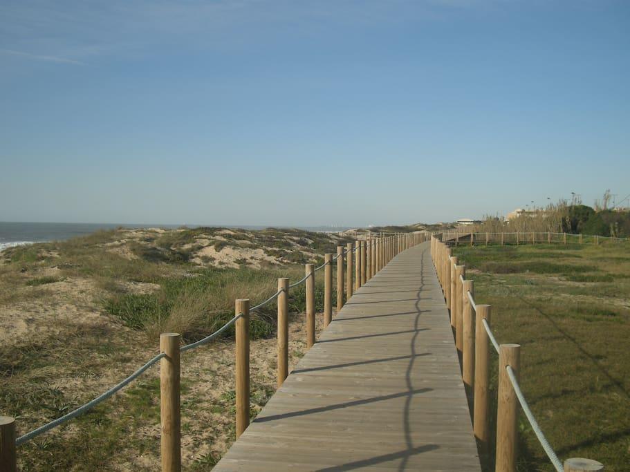 Praia da Madalena,c/ Bandeira Azul a 700mts do apartamento