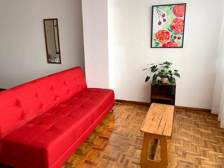 Bright Minimalistic Studio Central Safe Location