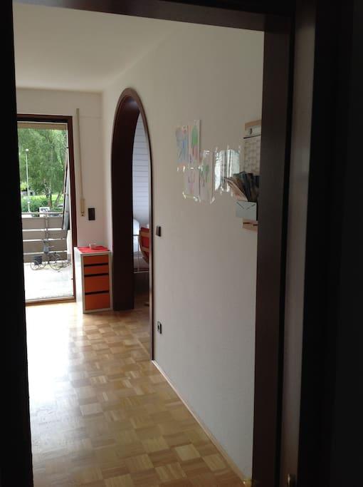 Privateingang durch das Treppenhaus