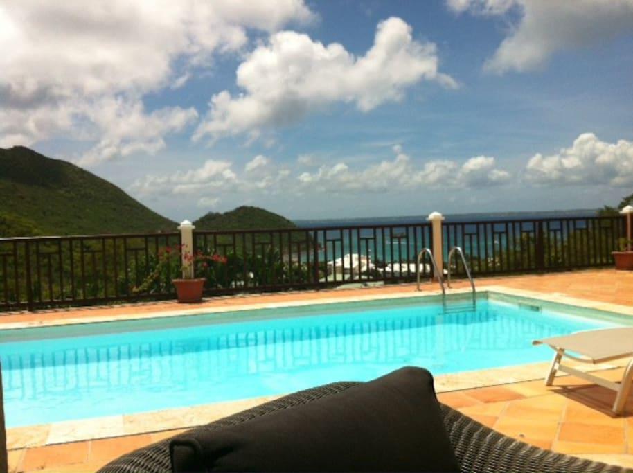 Villa anse marcel avec piscine vue mer et plage villa for Piscine saint marcel