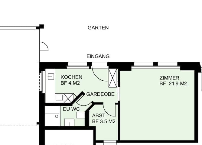 Cosy Studio Appartment with Big Garden - Lucerne - Lägenhet