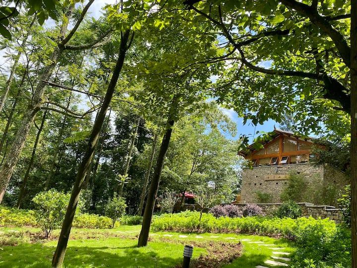 罗平棠梨凹观山茶舍,高端民宿,可轰趴、派对🎉烧烤、可单间、可整栋、近十万大山、万亩油菜花田