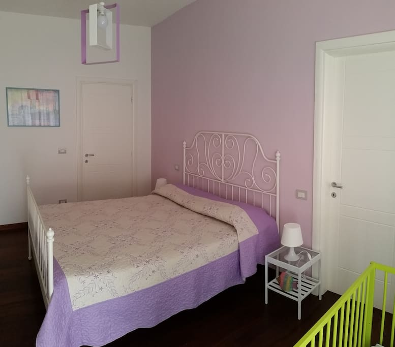 Bedroom with air cond and private bath. On request baby cots