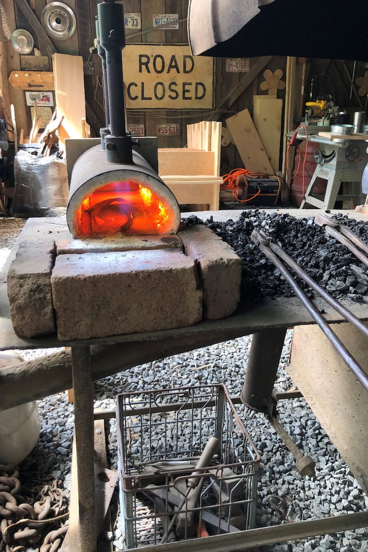Propane forge in action