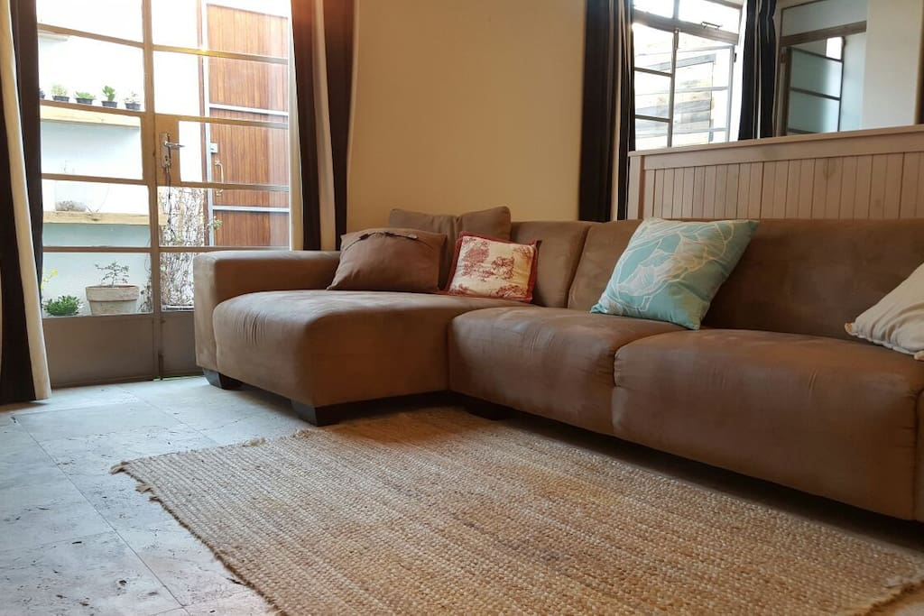 Large comfortable sofa in lounge area