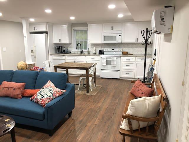 Basement apartment close to campus