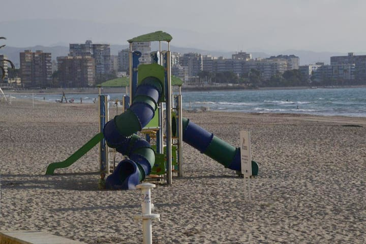 One of the many children areas on the beach